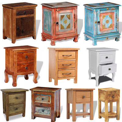Nightstand Bedside Tables Cabinets Wooden Storage Bedroom Phone Stand 10 Models