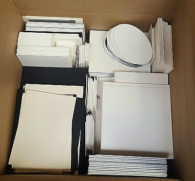 Box of Mount Board/ Card Off Cuts - Lots of Colours/ Sizes - Ideal for Crafts