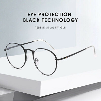 Anti-Fatigue UV Blocking Blue Light Filter Glasses Metal Clear Lens Eyewear AU