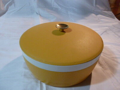 THERM-O-WARE SUNFROST Gold  BOWL ICE BUCKET Covered Insulated MID CENTURY MOD