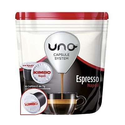 96 Pods Uno Capsules System Kimbo Espresso Napoli Originals Break Shop