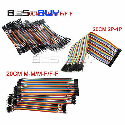 40PCS Dupont Wire Jumper Cable 2.54mm 1P-1P M-M/F-F/M-F Length:10CM/20CM/30CM