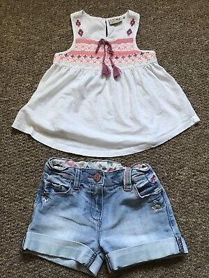 Girls Next Signiture Shorts & Top Set Outfit Age 5 Years Cute Good Condition