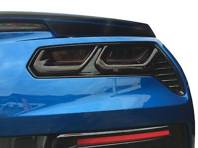 C7 Corvette Molded Acrylic Tail light Blackouts Lens Package Taillight