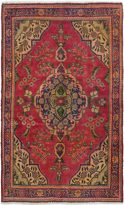 "Hand-knotted Persian 3'1"" x 5'0"" Persian Vintage Traditional Wool Rug"