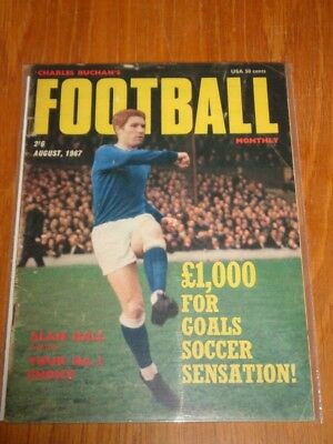 Football Monthly August 1967 Alan Ball Everton Charles Buchans Uk Magazine =