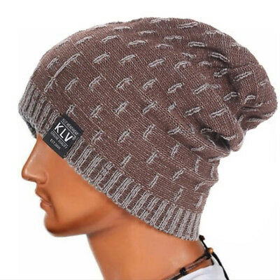Fashion Unisex Women Men Winter Warm Hat Beanies Cap Solid Color Knitted 8C