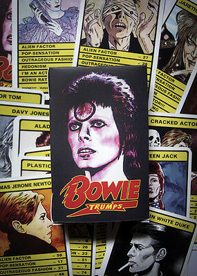 David Bowie 'Top Trumps' Card Game - 30 different Bowie personas