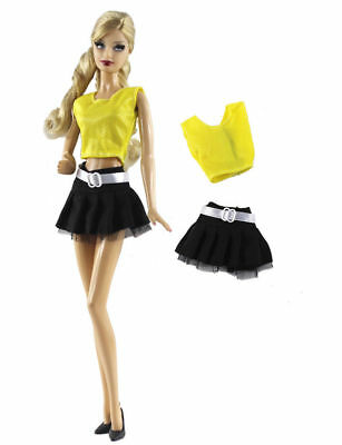 2 PCS Set Fashion Outfit Vest+skirt FOR 11 in. Doll Clothes