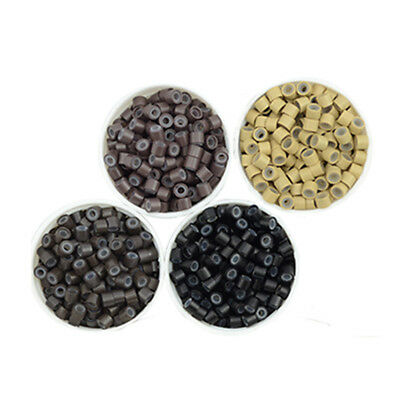 Silicone Lined 5mm Nano Micro Rings Beads For Hair Extensions- Colour Variety