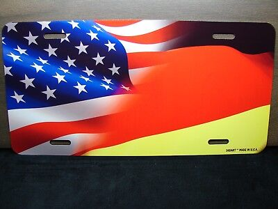 German Flag Metal Novelty License Plate made in the USA great Germany item!