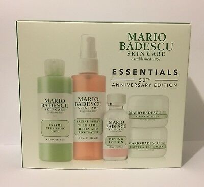 MARIO BADESCU 50th Anniversary Set Drying Lotion Facial Spray Silver Powder Mask