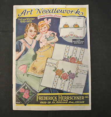 Vintage 1932-1933 Fall & Winter Art Needlework By Frederick Herrschner Catalog