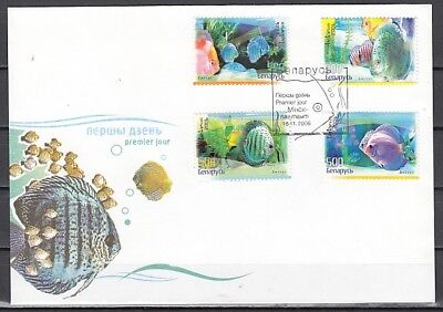 Belarus, Scott cat. 608-611. Discus Fish issue. First day Cover.