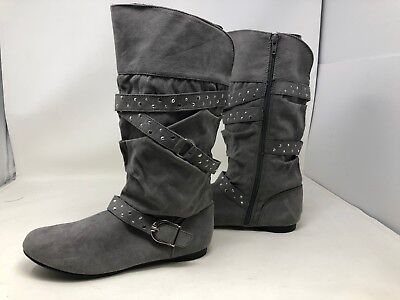 New Girl/'s Toddler Canyon River Blues Bow Boots Gray 26273 Faith 69X