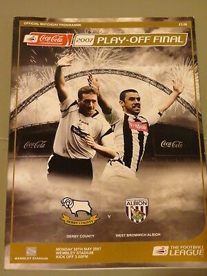 2007 Championship Play off Final Derby County v West Bromwich Albion Programme