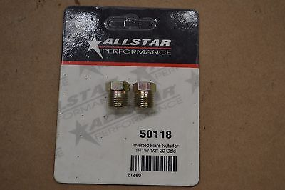 ALLSTAR PERFORMANCE ALL50118 Inverted Flare Nuts for 1/4in w/ 1/2-20