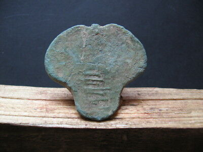 Stylized Phallus Talisman Ancient Celtic Bronze Fertility Amulet 400-200 B.c.