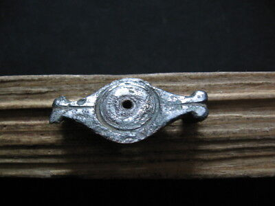 Double Fish Billon Silver Fibula Ancient Celtic Brooch 300-100 B.c.