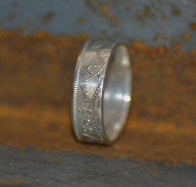 Canada Silver Coin Ring Handmade With Half Dollar Size 6 to 15 Pick a Year