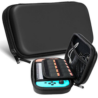 Nintendo Switch Accessories, Hard Travel Bag/ TPU Case/ Glass Film/ Thumb Grips