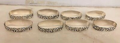 COLLECTION OF DECORATIVE NORWEGIAN SOLID SILVER NAPKIN RINGS BY Brødrene Mylius