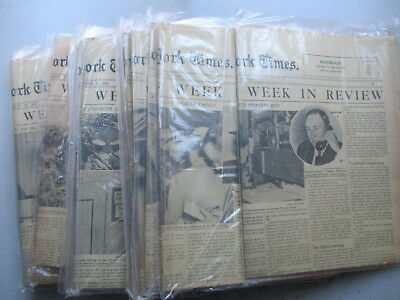 HUGE Lot 25  New York Times Week in Review Sections from 1935, Ethiopia, Italy