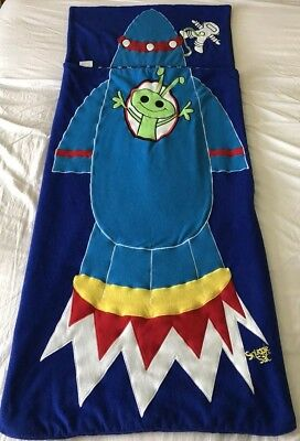 Boys SNUGGLE SAC SPACE ROCKET Sleeping Bag in Carry Case Very Rare, Retired VGC