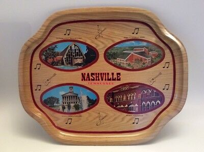 Vintage*Nashville Tennessee*Tin Serving Bar Tray*Ryman*Hall Of Fame*