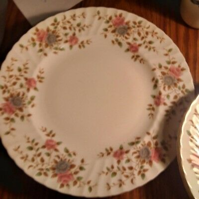 adderley heritage bone china dinner plates soup bowls salad and b & b two each