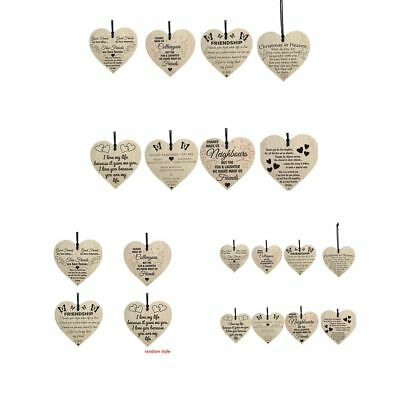 Friendship Wooden Wall Hanging Heart Plaque Wine Bottle Tags for Lovers