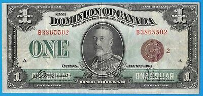 $1 1923 Dominion of Canada Note Bronze Seal DC-25i - Nice VF/EF