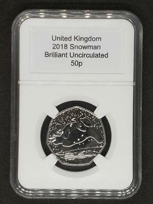 Royal Mint 2018 Snowman Brilliant Uncirculated Fifty Pence 50p Coin