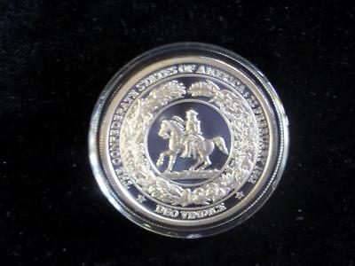 Confederate Dollar One Troy Ounce 999 Silver In Capsule