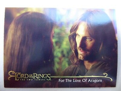 TOPPS Lord of the Rings: The Two Towers - Card #49 FOR THE LOVE OF ARAGORN