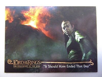 TOPPS Card : LOTR The Fellowship Of The Ring  #125 IT SHOULD HAVE ENDED THAT DAY