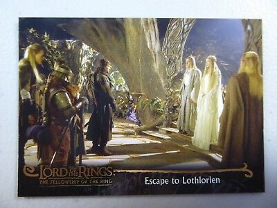 TOPPS Card : LOTR The Fellowship Of The Ring  #72 ESCAPE TO LOTHLORIEN