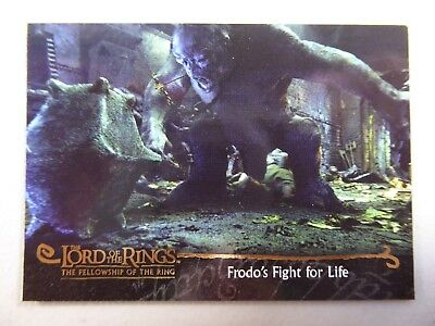 TOPPS Card : LOTR The Fellowship Of The Ring  #70 FRODO'S FIGHT FOR LIFE