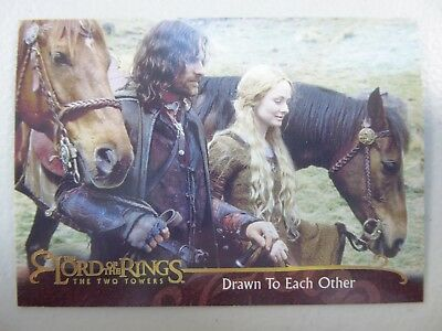 TOPPS Lord of the Rings: The Two Towers - Card #50 DRAWN TO EACH OTHER