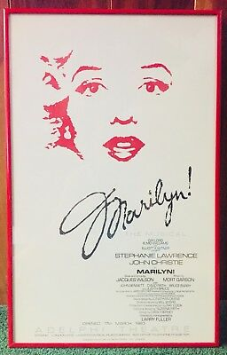 Mint Condition Marilyn Monroe the Musical - Original Framed Poster