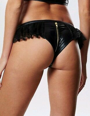 BNWT Ann Summers Tasha Crotchless Frilly Knickers RRP £18 Size M (12-14)