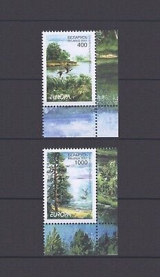 BELARUS, EUROPA CEPT 2001, WATER with MARGINS, MNH