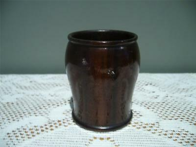 Turned Wooden Dice Throwing Cup - Treen - Vintage / Antique - Gc