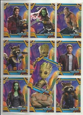2017 Guardians of the Galaxy WALMART Complete Set of 50 Cards (RB-1 to RB-50)
