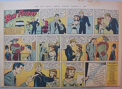 Ben Friday Sunday by Lariar and Pfeufer from 3/19/1950 Half Page Size!