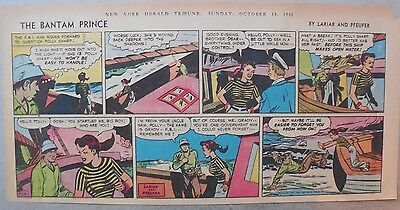 The Bantam Prince Sunday by Lariar and Pfeufer from 10/14/1951 Third Page Size!