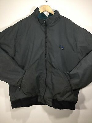 Vintage LL Bean Winter Coat Warm Up Jacket Made In USA 2XL Green Thinsulate
