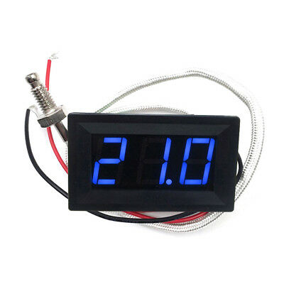 LED DC12V Thermocouple K type -30~800℃ High Temperature Digital Thermometer