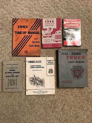 6 VTG FORD Operating Service Manuals~1942 Tune-Up Manual/Ford Truck /Caterpillar