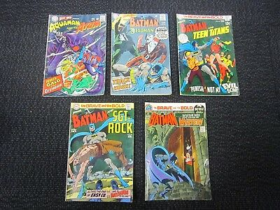 The Brave and the Bold comic lot - Adams art 1967